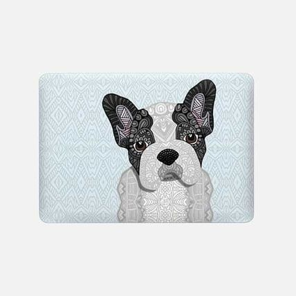Casetify スマホケース・テックアクセサリー ★Casetify★MacBookケース*Black & White Frenchie Puppy 001(3)