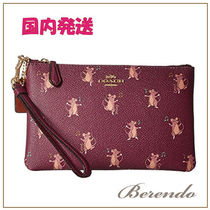 国内発送◆COACH Mouse Print Small Wristlet ネズミ ポーチ