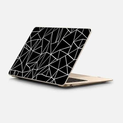 Casetify スマホケース・テックアクセサリー ★Casetify★MacBookケース#Abstraction Outline White on Black