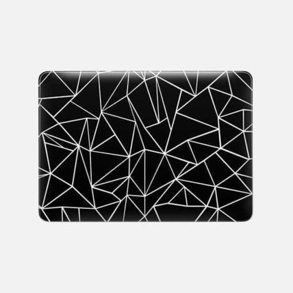 Casetify スマホケース・テックアクセサリー ★Casetify★MacBookケース#Abstraction Outline White on Black(3)