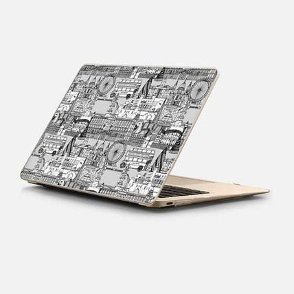 Casetify スマホケース・テックアクセサリー ★Casetify★MacBookケース*London toile black white
