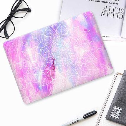 Casetify スマホケース・テックアクセサリー ★Casetify★MacBookケース*Modern hand painted pink lilac(2)