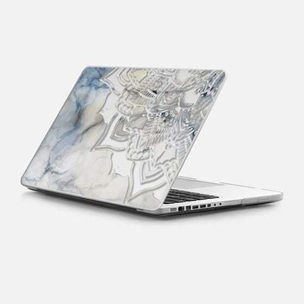 Casetify スマホケース・テックアクセサリー ★Casetify★MacBookケース*Laser cut mandala on white marble3