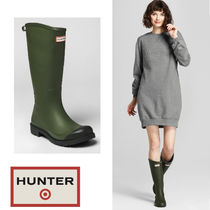 Hunter for Target rain boots olive US8=25cm 追跡付き!