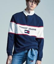 TOMMY JEANS フラグロゴラグビーポロ