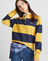 TOMMY JEANS フラグロゴボーダーポロ