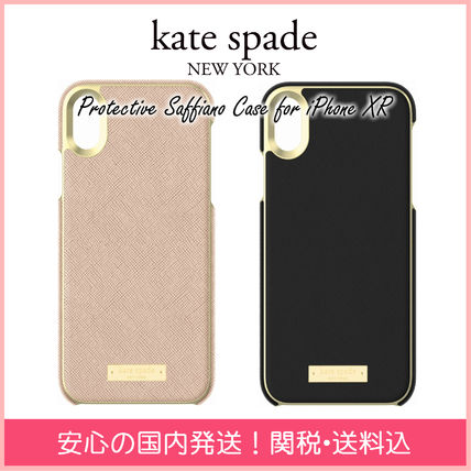 kate spade new york スマホケース・テックアクセサリー 【国内発送】Protective Saffiano Case for iPhone XR セール