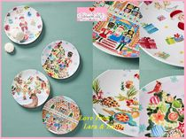 関送込【Anthro】Kris Kringle Melamine Dessert Plate 4枚SET