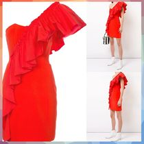 cinq a sept(サンクセプト) ワンピース 【送料・関税等込み】frilled fitted dress