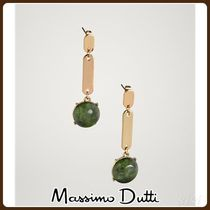 MassimoDutti♪STONE AND OVAL PIECE EARRINGS
