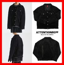 ATTENTIONROW(アテンションロー) ジャケットその他 人気★【ATTENTIONROW】★MOUSLIG CORDUROY TRUCKER JACKET★