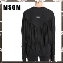 MSGM / FRINGED COTTON SWEATSHIRT ブラック【関税・送料込】