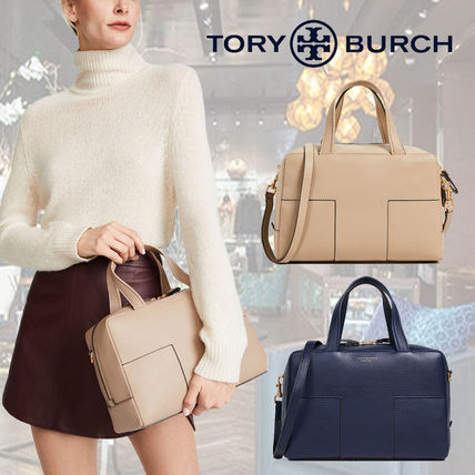 fce52f8c0a89 Tory Burch ハンドバッグ  Tory Burch トリーバーチ☆Block T Pebbled Zip Satchel ...