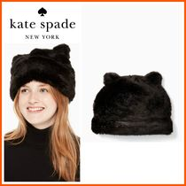 18-19AW!!日本未入荷☆kate spade☆faux mink hat with ears