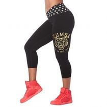 ★国内発送★ ズンバ Zumba Roar Capri Leggings Bold Black