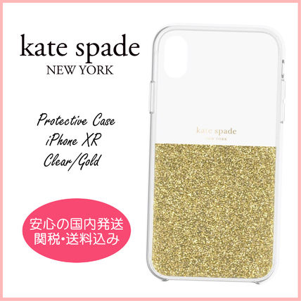 kate spade new york スマホケース・テックアクセサリー 【国内発送】Protective Case iPhone XR Clear/Gold セール