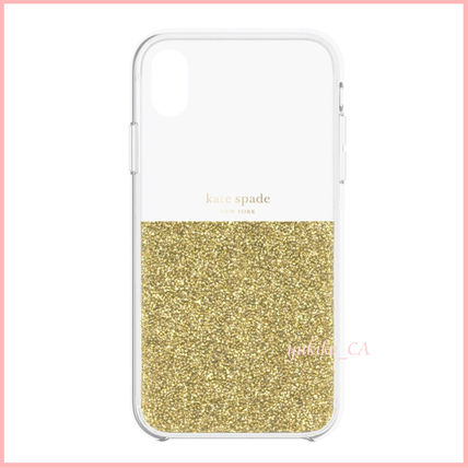 kate spade new york スマホケース・テックアクセサリー 【国内発送】Protective Case iPhone XR Clear/Gold セール(2)