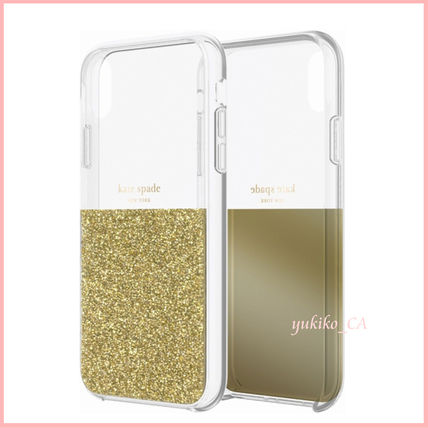 kate spade new york スマホケース・テックアクセサリー 【国内発送】Protective Case iPhone XR Clear/Gold セール(3)
