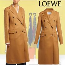 【18AW】LOEWE★Double-breasted wool and cashmere-blend coat