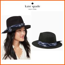 18-19AW!!最新作☆kate spade☆printed band trilby