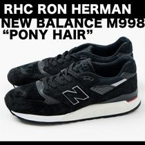 "コラボ RHC RON HERMAN × NEW BALANCE 998 Black""ポニーヘアー"""
