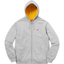 在庫確保済 Supreme 18SS Contrast Zip Up Hooded Sweatshirt M