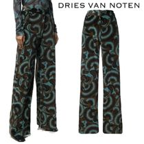 【18AW】★Dries Van Noten★flared printed trousers