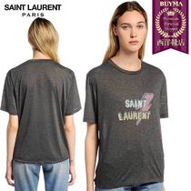 【正規品保証】SAINT LAURENT★18秋冬★LIGHTENING LOGO T-SHIRT