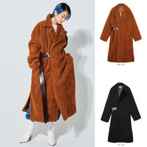 【OPENTHEDOOR】belted long shearing coat (2 color) - UNISEX