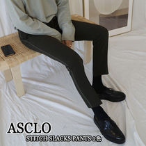ASCLO★韓国の人気★STITCH SLACKS PANTS 2色