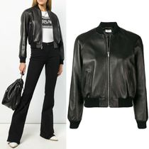18-19AW WSL1329 CROPPED BOMBER JACKET