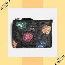 Coach コーチ Mini Skinny Id Case With Rainbow Rose Print