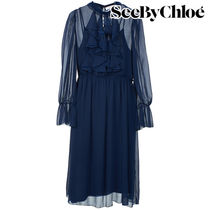 【Last one】SEE BY CHLOE'  polyester dress