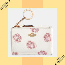 Coach コーチ Mini Skinny Id Case With Rose Print IDケース