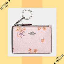 Coach コーチ Mini Skinny Id Case With Floral Bow Print