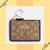 Coach コーチ Mini Skinny Id Case In Signature Jacquard