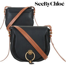 【Last one】SEE BY CHLOE'  leather crossbody bag  black