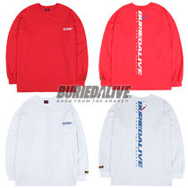 BURIED ALIVE(べリードアライブ) スウェット・トレーナー 216. ロゴスウェット BA NEW LOGO LONG SLEEVE WHITE / RED