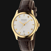 GUCCI(グッチ) G-Timeless Silver Dial Leather Unisex Watch