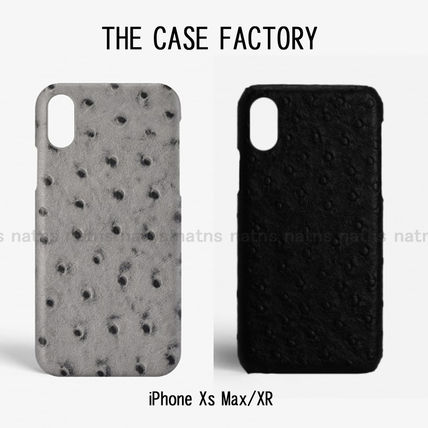 THE CASE FACTORY スマホケース・テックアクセサリー 送料無料☆THE CASE FACTORY*iPhone Xs  MAX XR オーストリッチ
