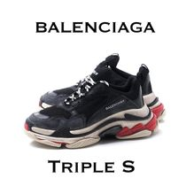 ★送料無料 BALENCIAGA Triple S NOIR BLACK/ROUGE RED★