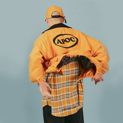 A PIECE OF CAKE ブルゾン 【正規品・送料無料】A PIECE OF CAKE Oval Logo Blouson_yellow(6)