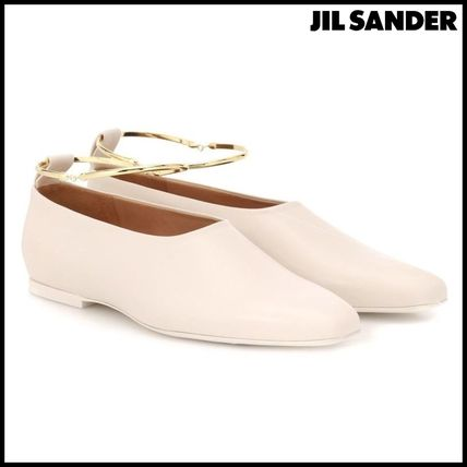 Jil Sander(ジルサンダー)★Ankle-ring leather ballet flats