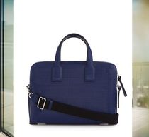 数量限定 LOEWE ロエベ Goya Thin Briefcase Navy Blue