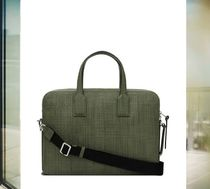 数量限定 LOEWE ロエベ Goya Thin Briefcase Khaki Green