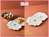最安値保証*関送料込【Anthro】Papetal Floral Serving Platter