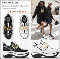 ★ Cortlandt Embellished Leather Platform Trainer   ★