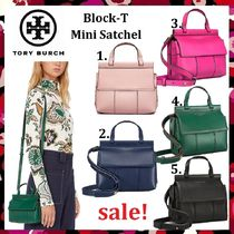 セール 新色 Tory Burch Cuteなミニ Block-T Mini Satchel 2Way