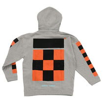 OFF-WHITE Checker Over Hoodie OMBB009F171920230719 グレー