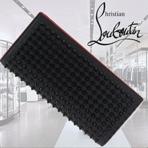 CHRISTIAN LOUBOUTIN**Naxos Black Grain Leather Spikes Wallet